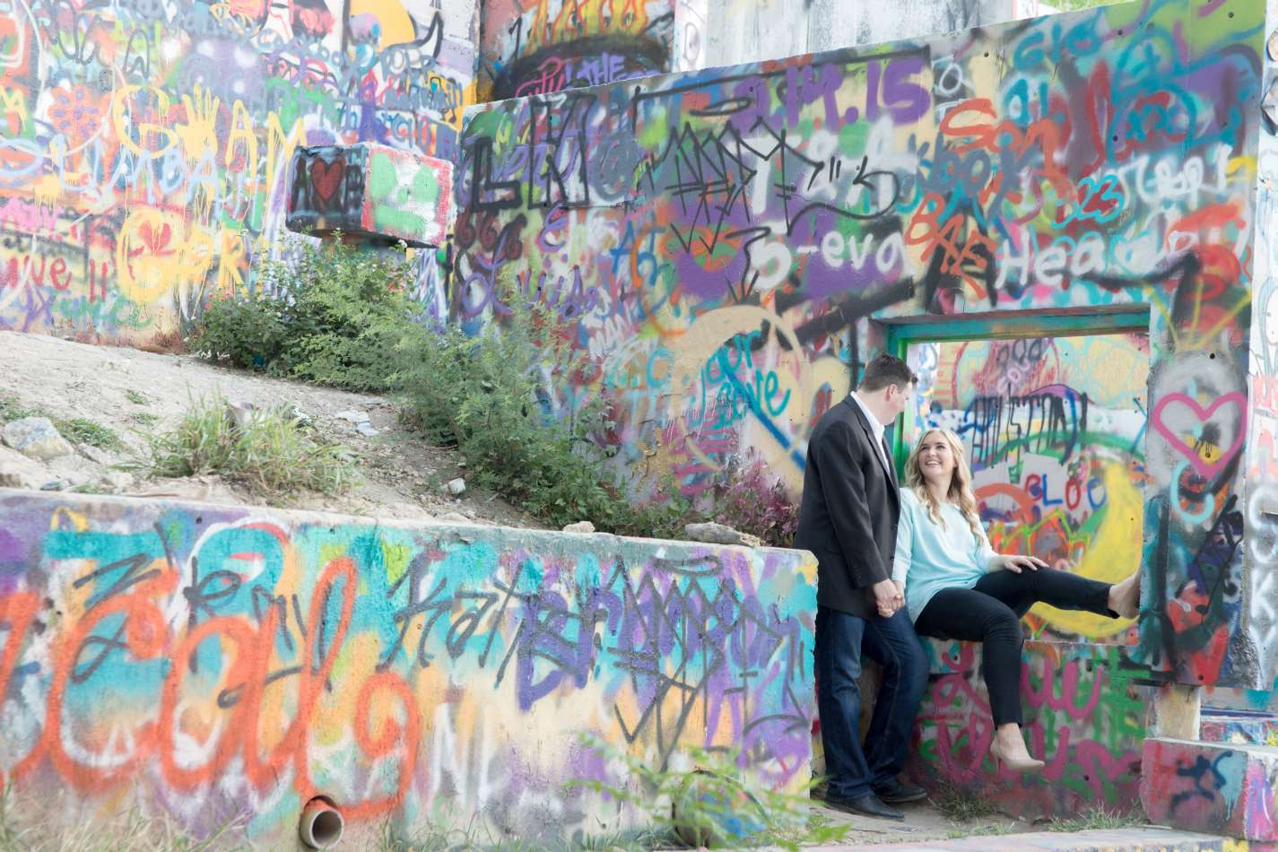 HighDot Studios - Jill and Sean - Engagement Session - Austin - Hope Outdoor Gallery - Long Center (15)